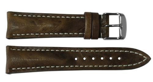 24x20 Burnt Chestnut Vintage Leather Watch Strap for Breitling (Tang Buckle) | OEMwatchbands.com