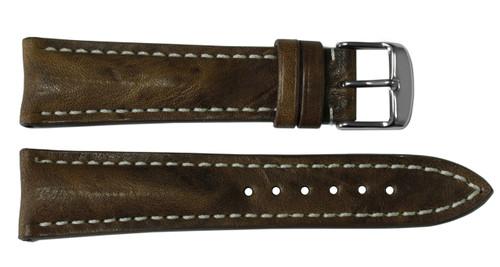 22x18 Burnt Chestnut Vintage Leather Watch Strap for Breitling (Tang Buckle) | OEMwatchbands.com