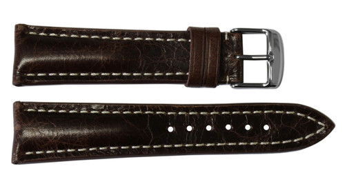 22x18 Burnt Maroon Vintage Leather Watch Strap for Breitling (Tang Buckle) | OEMwatchbands.com