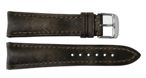 22x20 Deep Oil Vintage Leather Watch Strap for Breitling (Tang Buckle) | OEMwatchbands.com