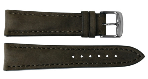 24x20 Light Suede Leather Watch Strap for Breitling (Tang Buckle) | OEMwatchbands.com