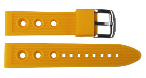 24x22 Orange Rubber Rally Watch Strap for Breitling (Racing Style) | OEMwatchbands.com