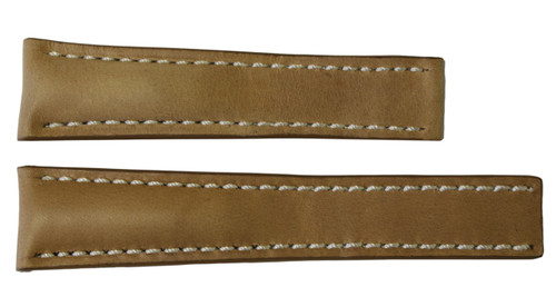22x18 Sand Vintage Leather Watch Strap for Breitling (For Deploy Buckle) | OEMwatchbands.com