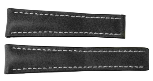 22x18 Stone Vintage Leather Watch Strap for Breitling (For Deploy Buckle) | OEMwatchbands.com