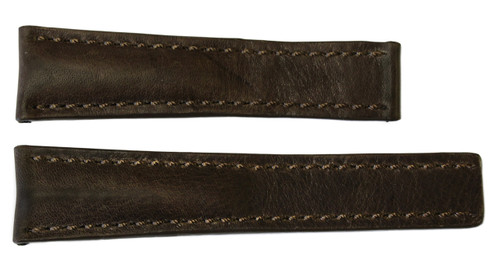 22x18 Distressed Walnut Vintage Leather Watch Strap for Breitling (For Deploy Buckle) | OEMwatchbands.com