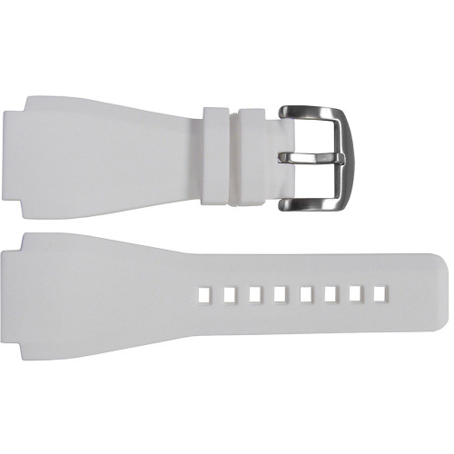 24mm White Waterproof Rubber Watch Strap - Exact Replacement For Bell & Ross | OEMwatchbands.com