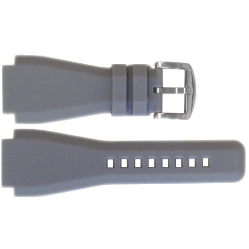 24mm Grey Waterproof Rubber Watch Strap - Exact Replacement For Bell & Ross | OEMwatchbands.com