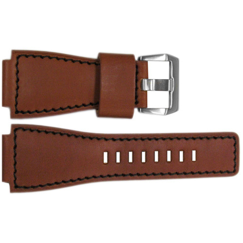 24mm Rou HZ Vintage Leather Watch Strap with Black Stitching For Bell & Ross | OEMwatchbands.com