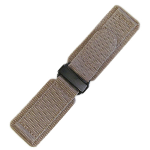 24mm Khaki Velcro Watch Strap with PVD Hardware For Bell & Ross | OEMwatchbands.com