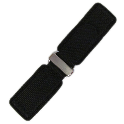24mm Black Velcro Watch Strap with Stainless Steel Hardware For Bell & Ross | OEMwatchbands.com