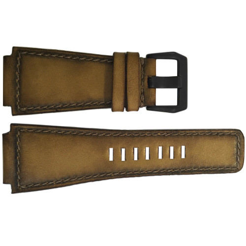 24mm ArtDeco 2 - Deep Distressed Vintage Leather Watch Strap for Bell & Ross | OEMwatchbands.com