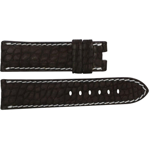 24mm Mocha Nubuk Alligator (Flank) Watch Strap with White Stitching for Panerai Deploy | OEMwatchbands.com
