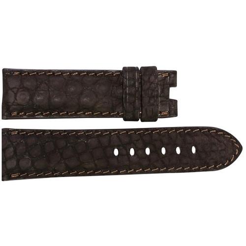 24mm Mocha Nubuk Alligator (Flank) Watch Strap with Match Stitching for Panerai Deploy | OEMwatchbands.com