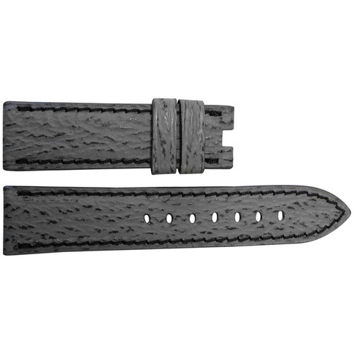 22mm Grey Shark Watch Strap with Black Stitching for Panerai Deploy | OEMwatchbands.com