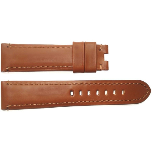 22mm Gold Soft Calf Leather Watch Strap with Match Stitching for Panerai Deploy | OEMwatchbands.com