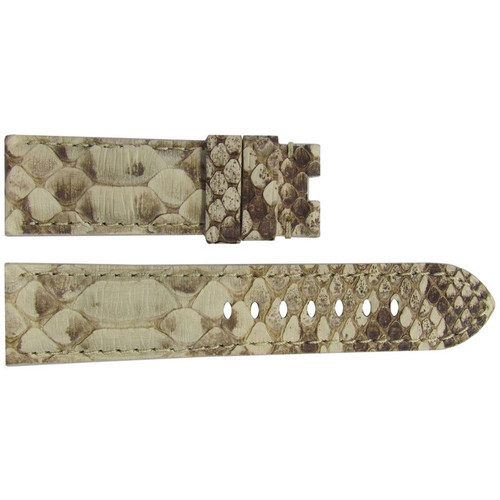 22mm Bone Java Rock Python Watch Strap with Match Stitching for Panerai Deploy | OEMwatchbands.com
