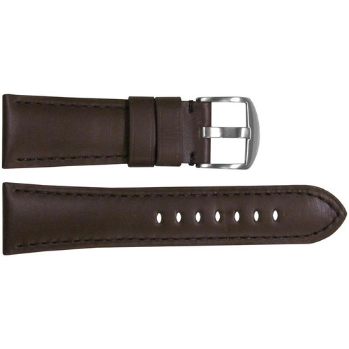 26mm Brown Soft Calf Leather Watch Strap with Match Stitching for Panerai Radiomir | OEMwatchbands.com