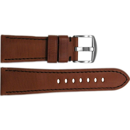 26mm Rou HZ Vintage Leather Watch Strap with Black Stitching for Panerai Radiomir | OEMwatchbands.com