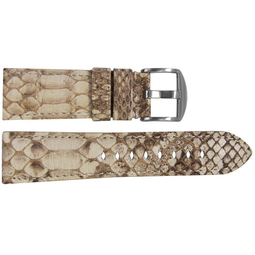 26mm (XL) White Java Rock Python Watch Strap with Match Stitching for Panerai Radiomir | OEMwatchbands.com