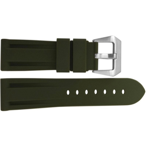 24mm Olive Waterproof Rubber Diver Watch Strap For Panerai   OEMwatchbands.com