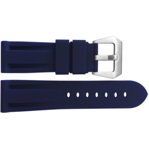 24mm Blue Waterproof Rubber Diver Watch Strap For Panerai | OEMwatchbands.com
