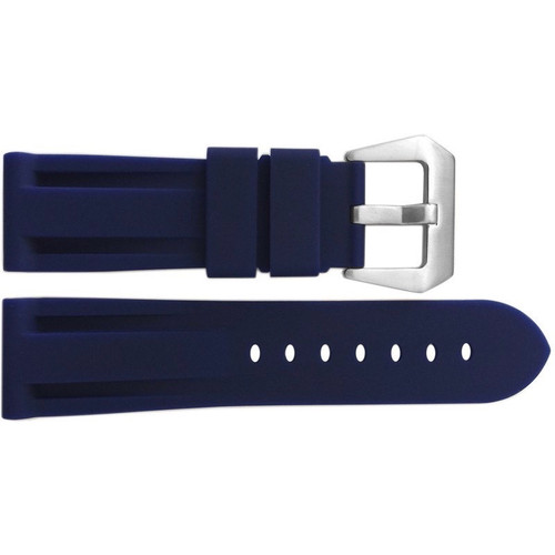 24mm Blue Waterproof Rubber Diver Watch Strap For Panerai | OEMwatchbands.com