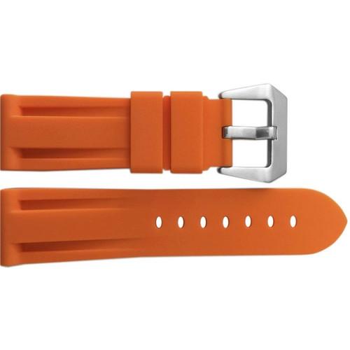 24mm Orange Waterproof Rubber Diver Watch Strap For Panerai | OEMwatchbands.com