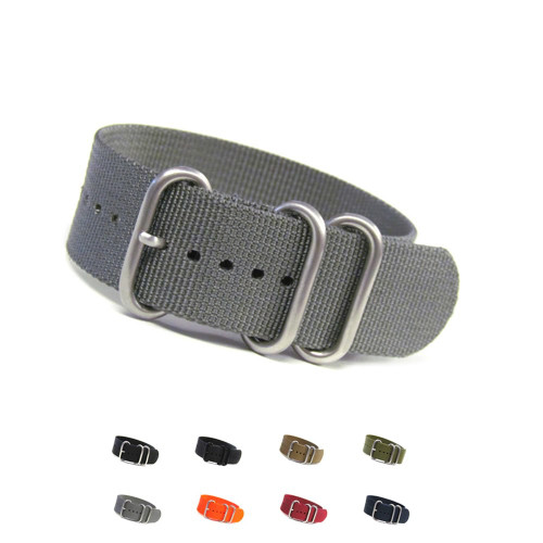 3-Ring Ballistic Nylon Waterproof Watch Strap - Main Image | OEMwatchbands.com