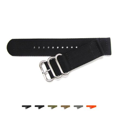 Two-Piece Ballistic Nylon Waterproof Watch Strap - Main Image   OEMwatchbands.com