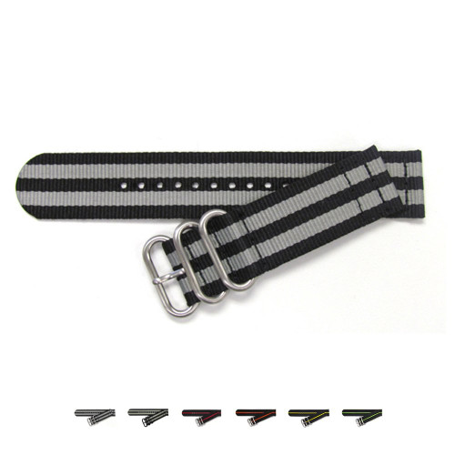 Two-Piece Ballistic Nylon Waterproof Watch Strap - Main Image | OEMwatchbands.com