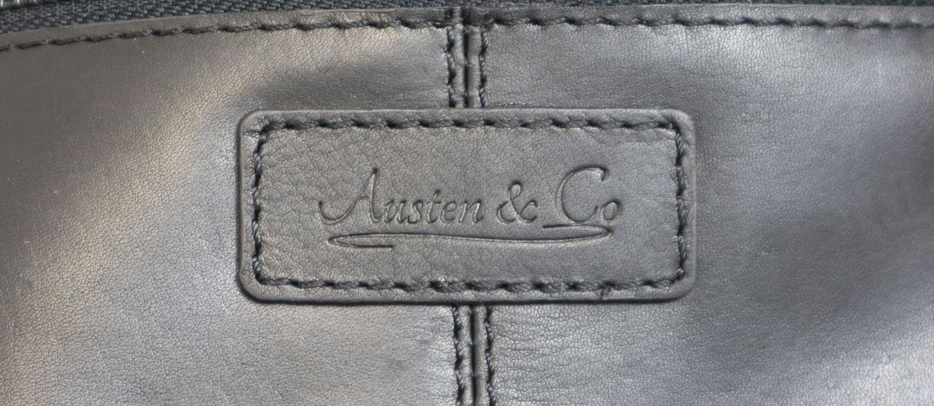 Black Body Bag Austen & Co Logo