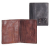 Ashwood Vintage Dipped 3 Card Bill Fold Tan Leather Wallet