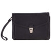 Ashwood Wimbledon Black Leather Mens Luxury Travel Clutch Bag