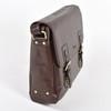 Ashwood Chelsea Jasper Double Clasp Brown Leather Laptop Satchel