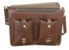 Ashwood Cognac Leather Satchel Briefcase