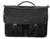 Ashwood Black Leather Satchel Briefcase