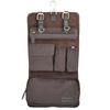 Ashwood Brown Leather Fold Out Wash Bag Brown