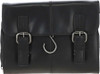 Austen & Co Black Leather Hanging Wash Bag