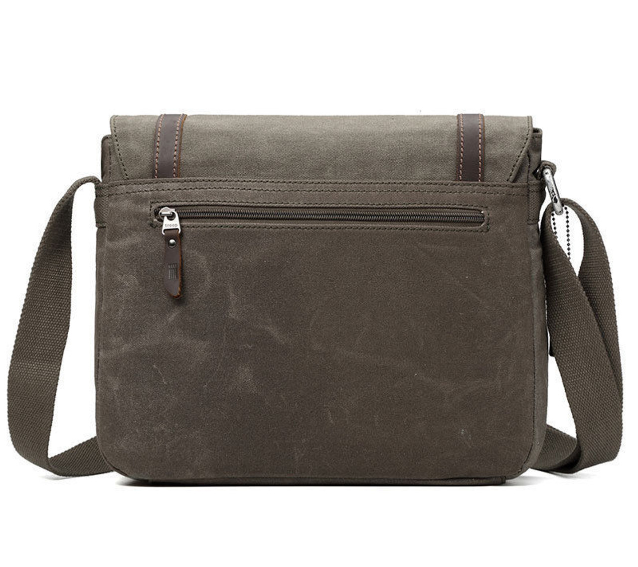 cd2cb5147163 Troop Heritage Canvas Leather Brown Messenger Bag