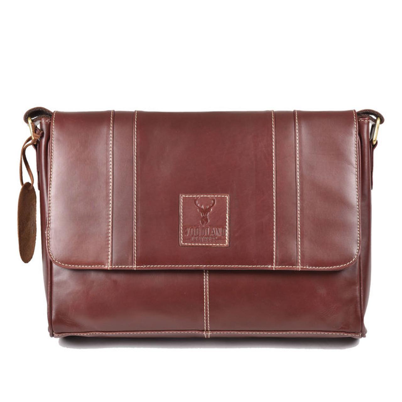 477f546a5a8 Burnish Brown Buffalo Leather Messenger Bag