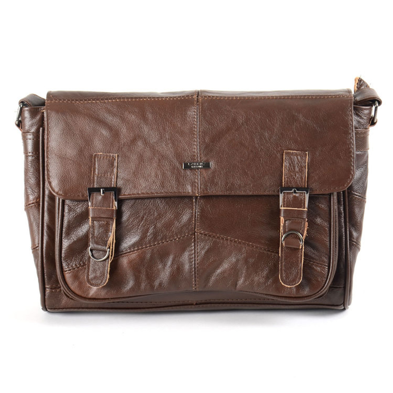 f0e493ecd968 Woodland Leathers Lorenz Leather Messenger Bag