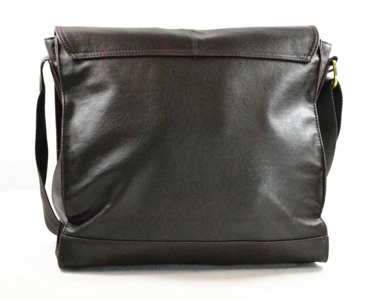 9755bdabdeb0 Storm Abbey Brown Faux-Leather Despatch Messenger Bag
