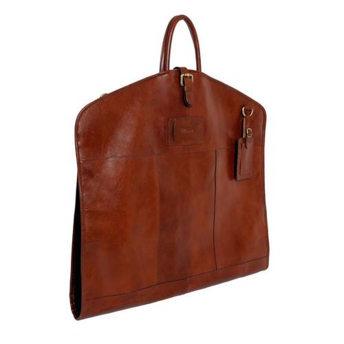 Ashwood Chestnut Chelsea Harper Hand-Held Foldable Leather Suit Carrier