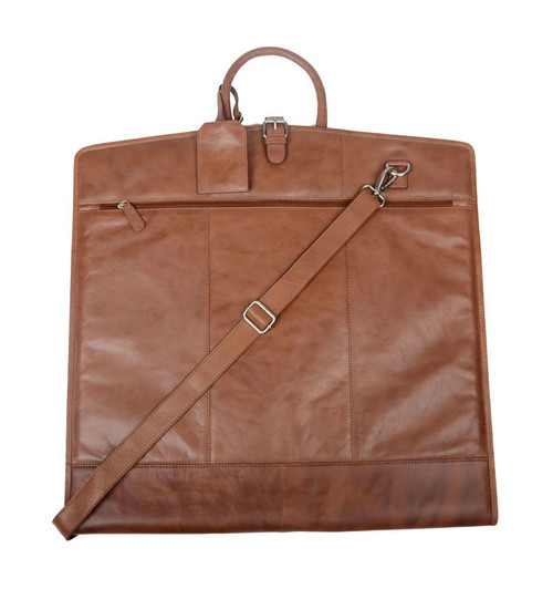 Cotehele Rustic Brown Leather Suit Carrier