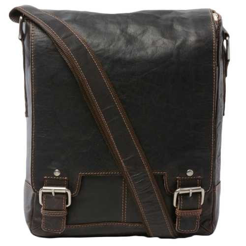 Ashwood Kingston Brown Luggage Leather iPad Messenger Bag
