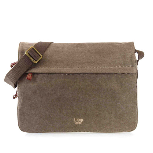 Troop London Cotton Messenger Bag - Brown