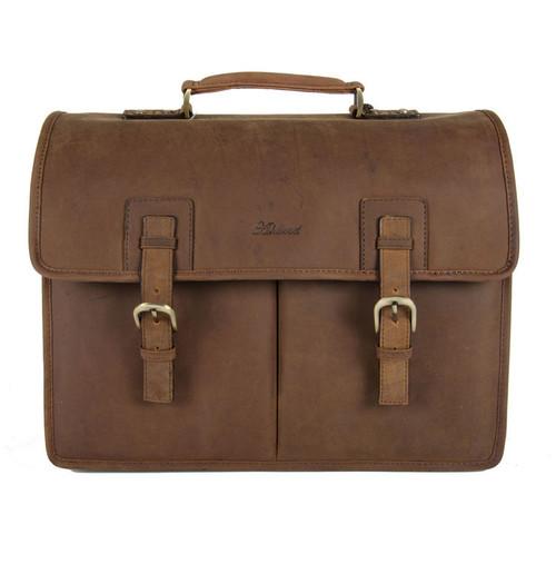 e4dc8baa3 Ashwood Mud Brown Gareth Heavy Duty Leather Laptop Briefcase
