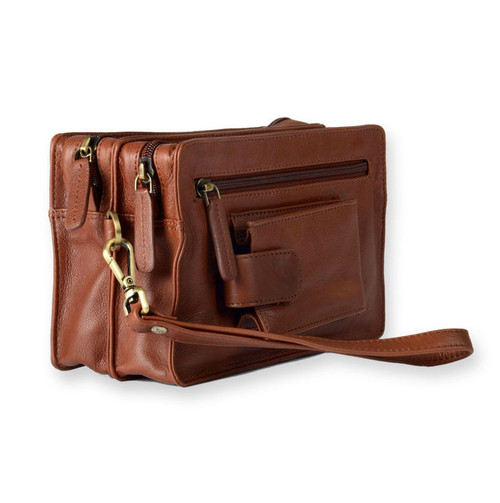 Visconti Leather Men's Wrist Clutch Bag