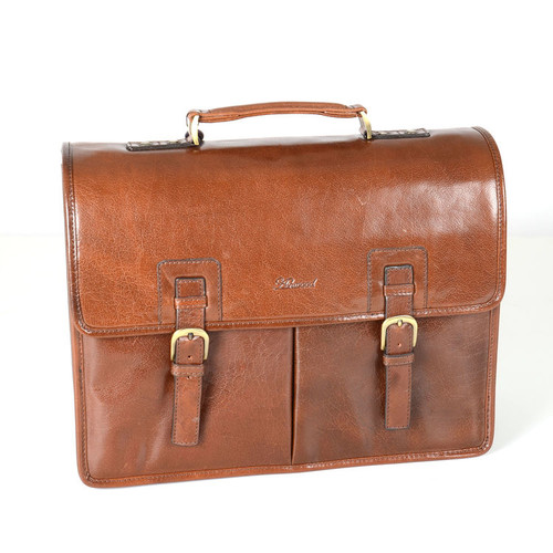 Ashwood Chelsea Range Brown Leather Gareth Briefcase