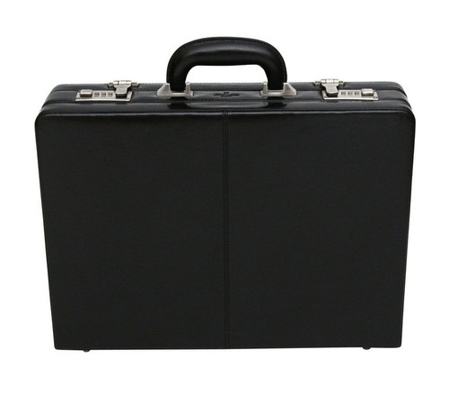 S Babila Executive Leather Attache Black Briefcase